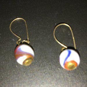 Vintage Dangle multi-colored Earrings
